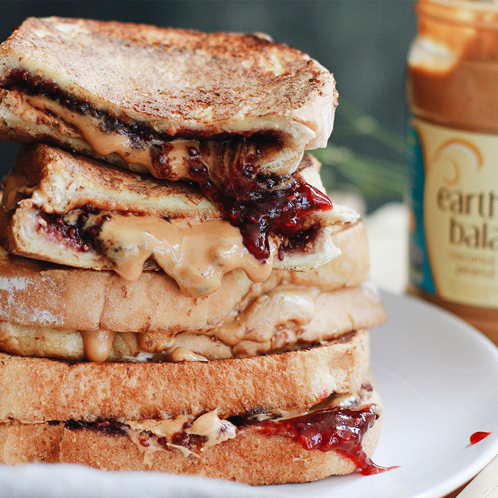 PB&J Stuffed Vegan French Toast